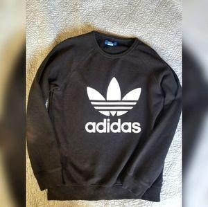 Adidas Trefoil Black Crewneck Sweatshirt Sz M